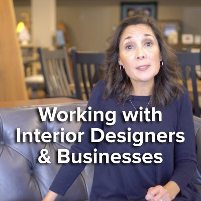 Video Title Screen Working with Interior Designers and Businesses