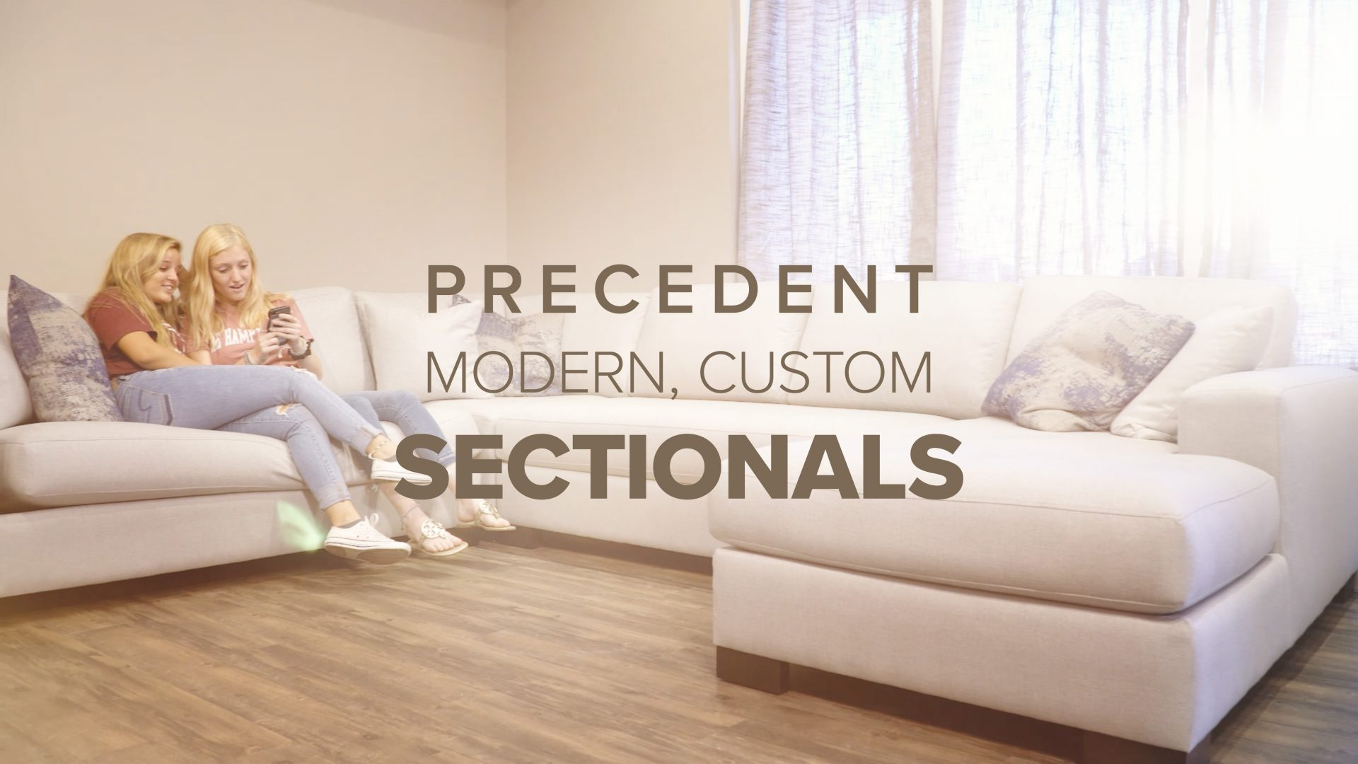 Precedent modern, custom sofa sectionals