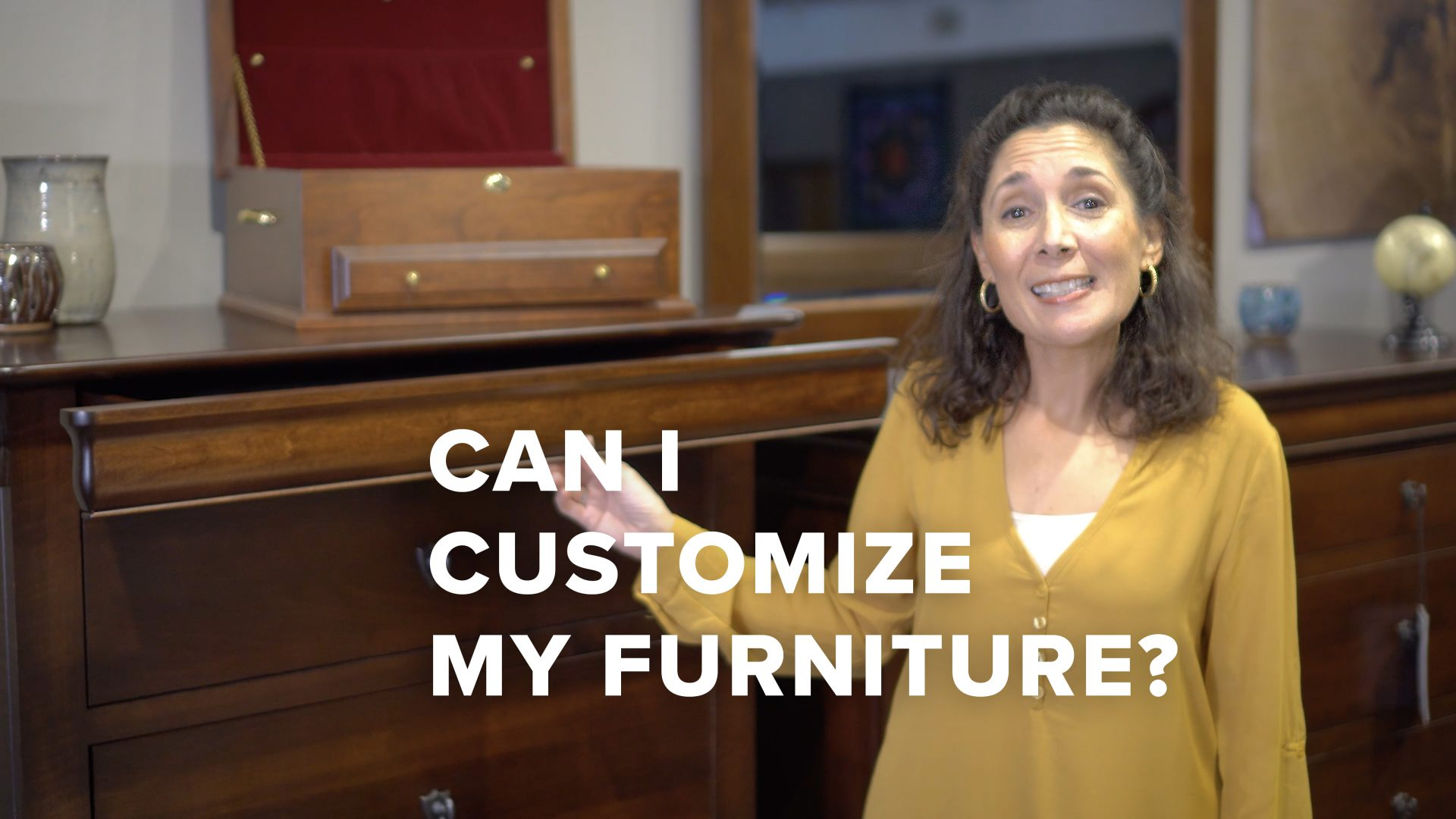 Can I customize my solid wood furniture? Video title image