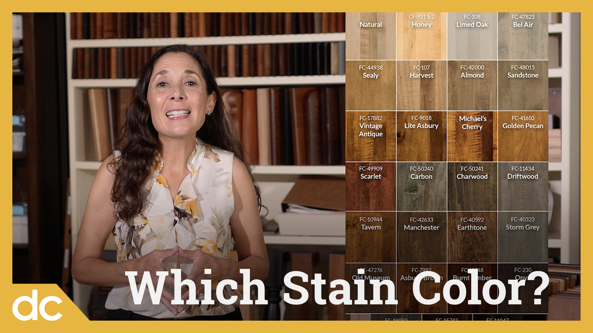 Which Stain Color or Wood Finish for Furniture? Video Title