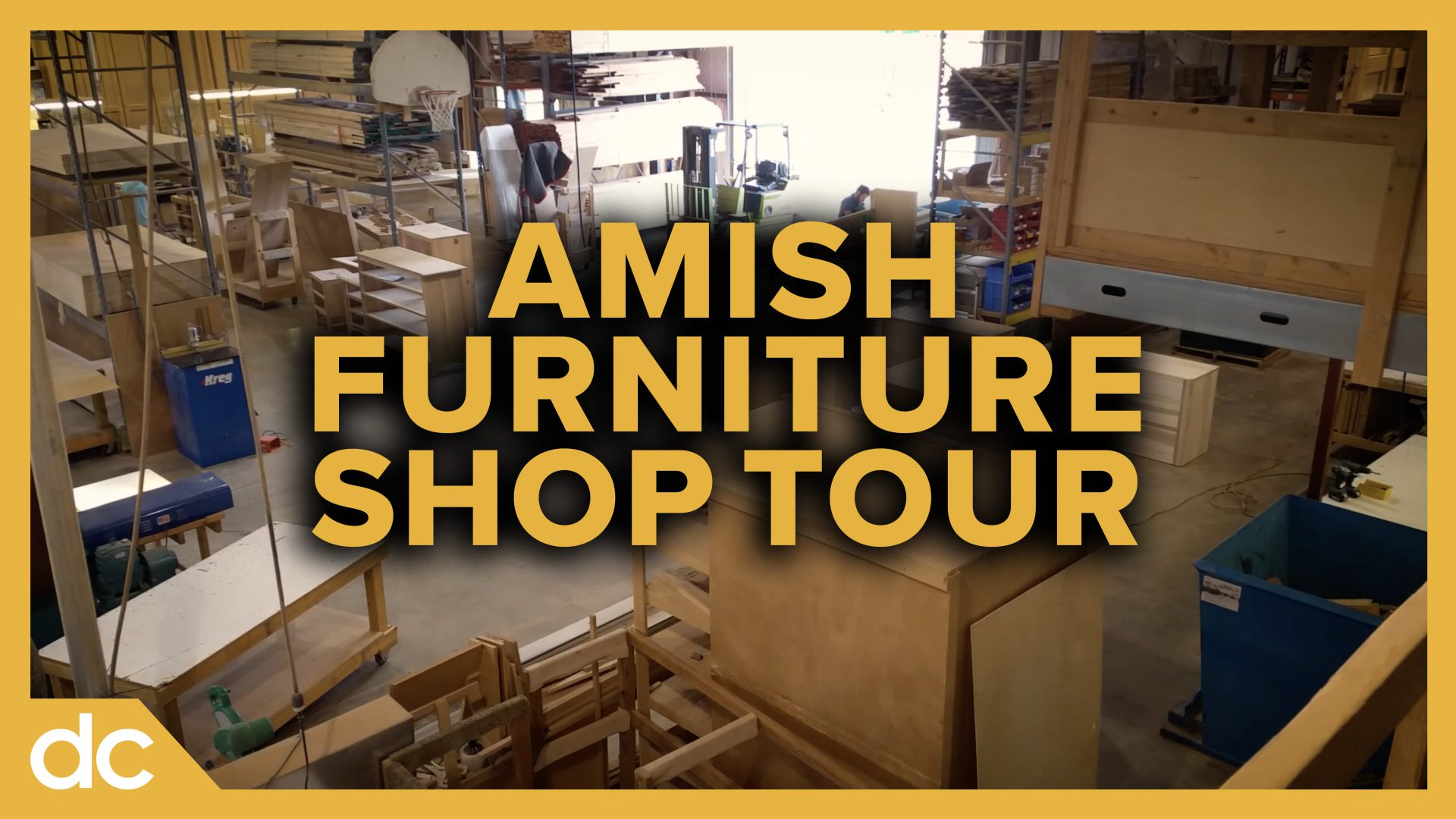 Inside an Amish Furniture Shop Woodshop Tour