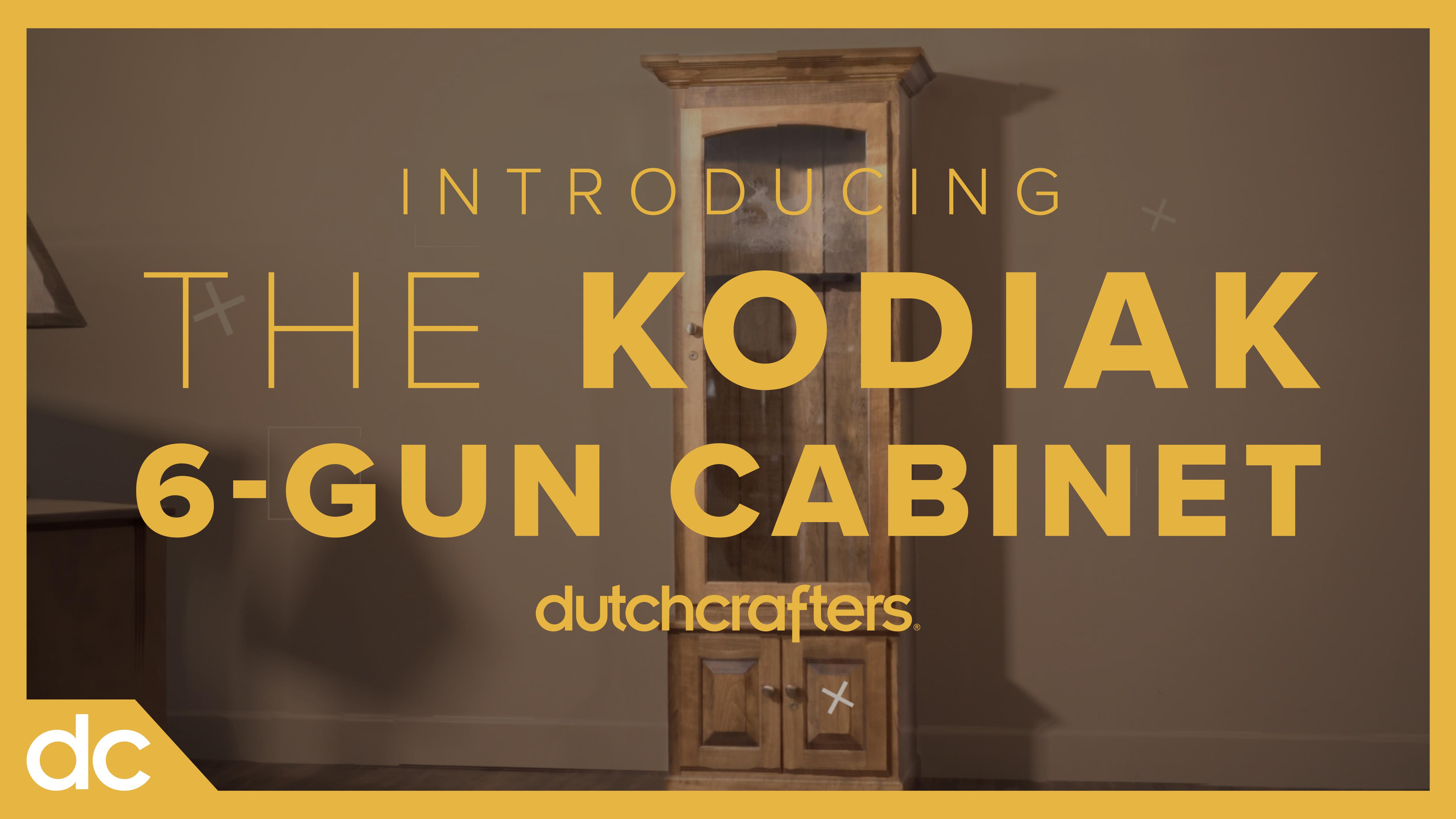 Introducing the Kodiak 6 Gun Cabinet at DutchCrafters