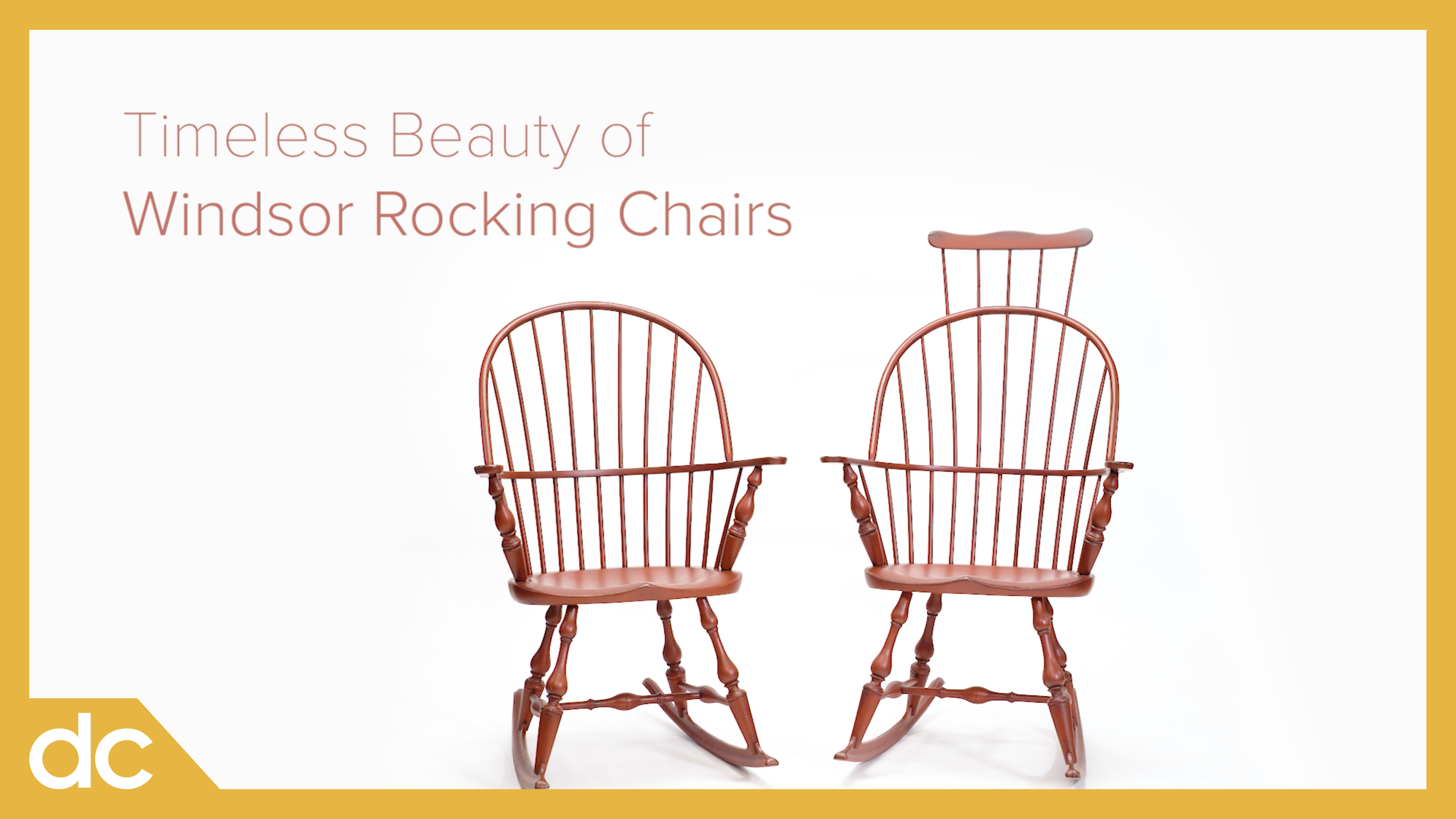 Timeless Beauty of Windsor Rocking Chairs