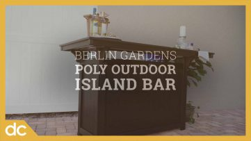 Berlin Gardens Poly Outdoor Island Bar
