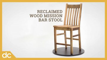 Reclaimed Wood Mission Bar Stool Video Title