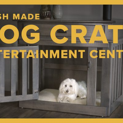 Amish Made Dog Crate Entertainment Center