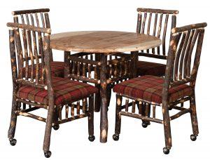 Rustic Log Dining Set