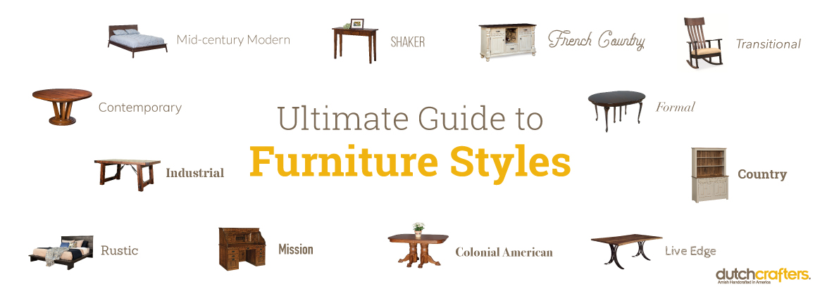 Furniture Styles Guide Dutchcrafters, Types Of Furniture Styles