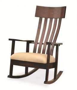 Transitional style rocking chair