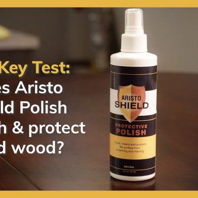Does Aristo Shield Polish polish and protect solid wood?