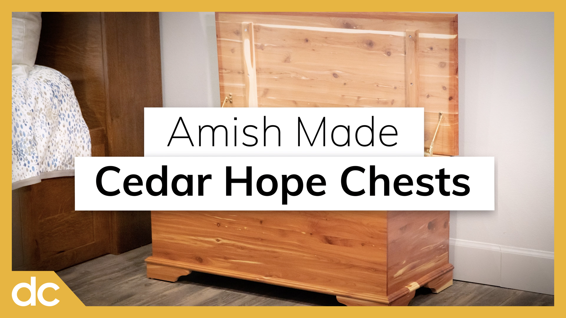 Amish Made Cedar Hope Chests Video Title