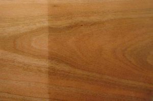 cherry wood before and after natural darkening
