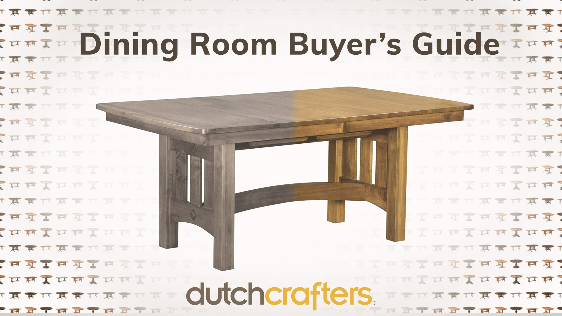 Dining Room Buyer's Guide