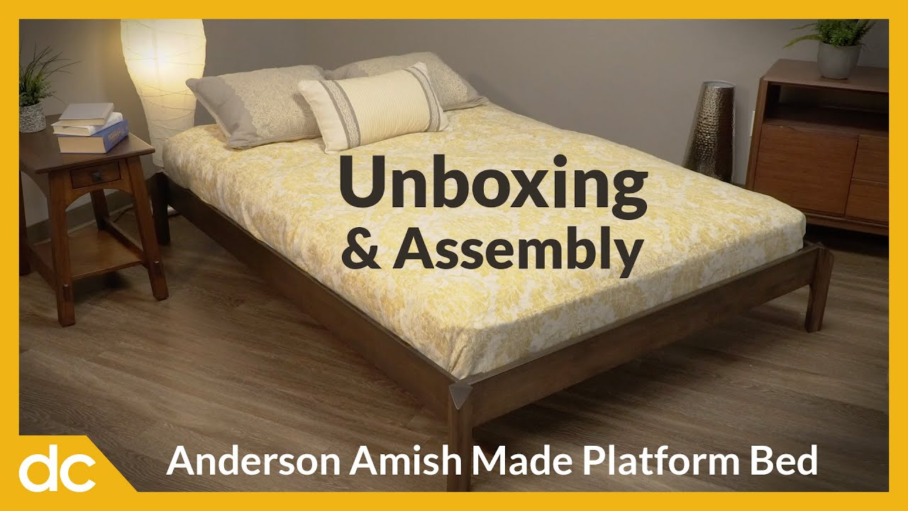 Anderson Amish Made Platform Bed: Unboxing and Assembly Video Title