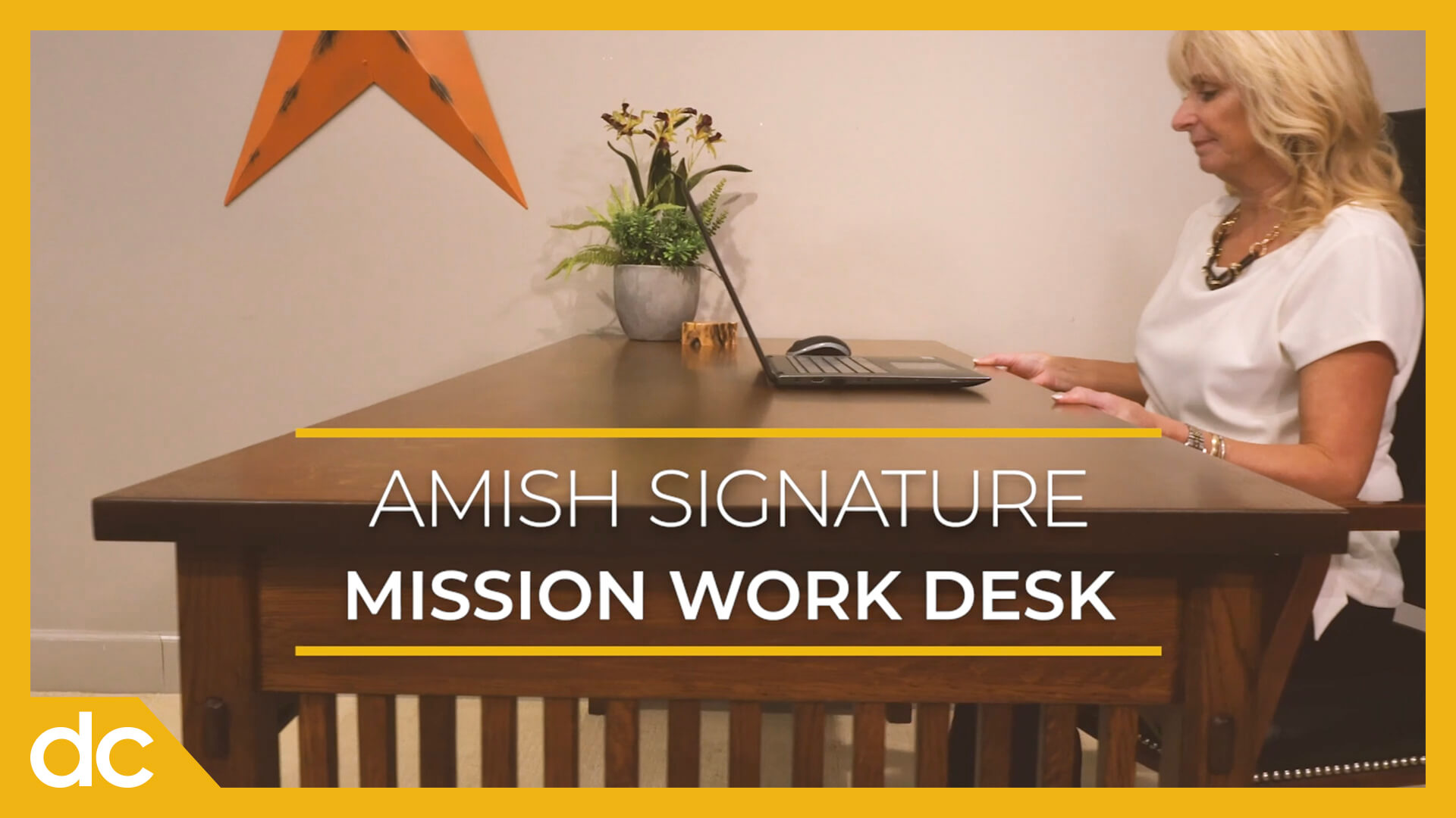 Video Title Image: Amish Signature Mission Work Desk